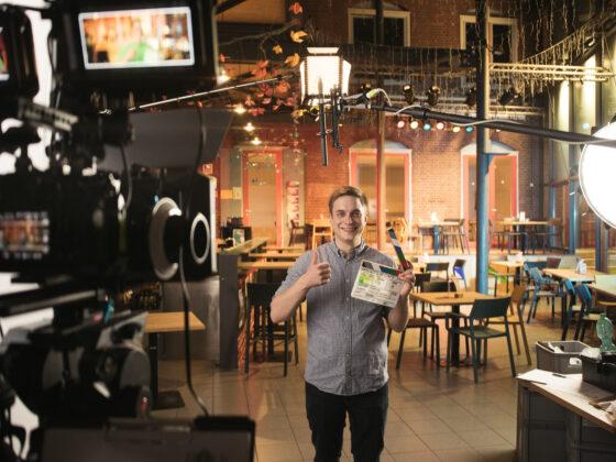 Interviewsetting im Caféraum