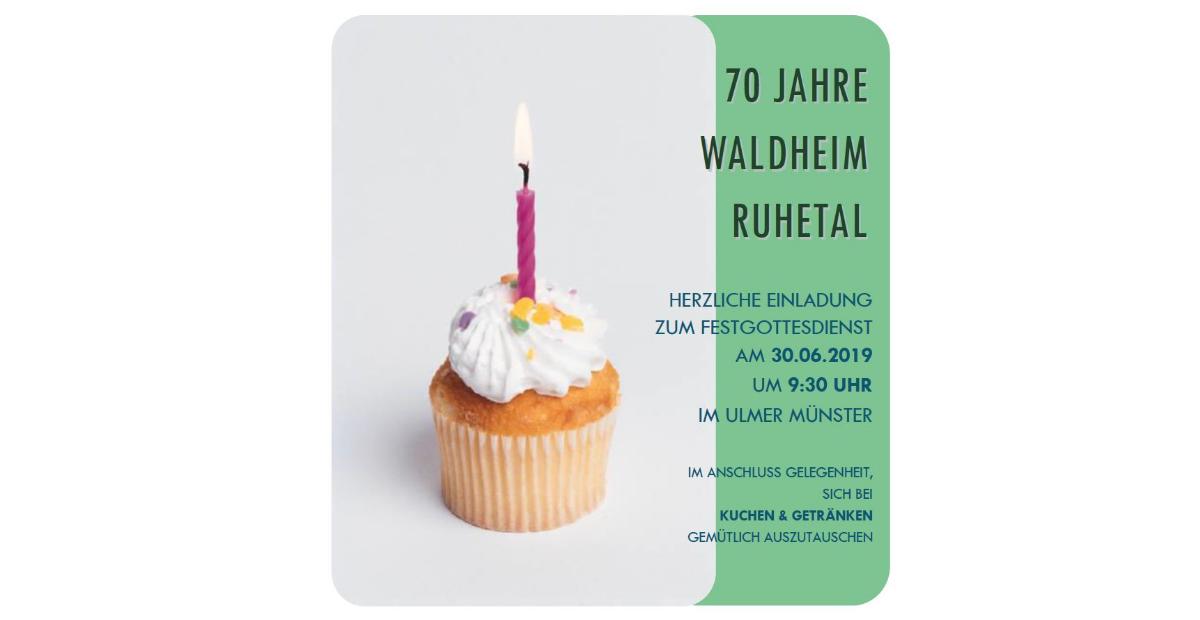 70 Jahre Waldheim Ruhetal- Festgottesdienst