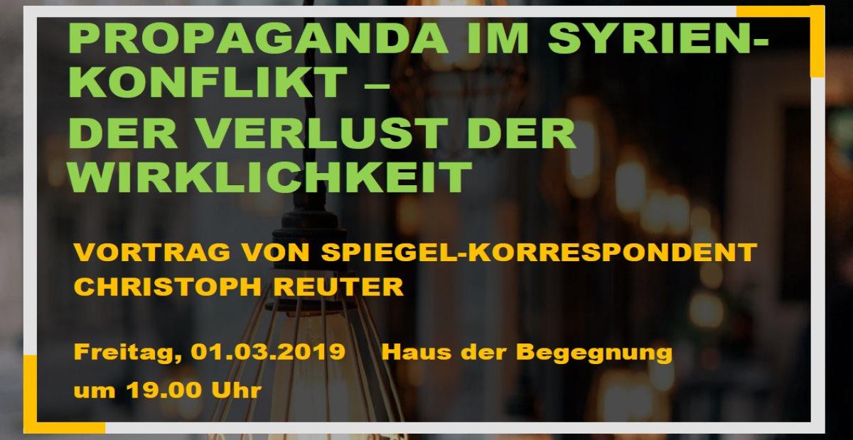 Propaganda im Syrien-Konflikt: Vortrag von Christoph Reuter